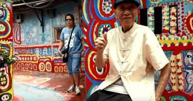 'Regenboog opa' redt een dorp in Taiwan met kunst