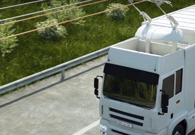 eHighway: Elektrische vrachtwagens laden al rijdend accu op via bovenleiding