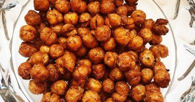 Geroosterde kikkererwten uit de oven (recept gezond tussendoortje)