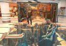 Geweldige 3D straatartiest biedt een uniek perspectief