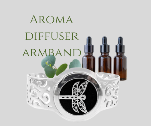 Aroma diffuser armband