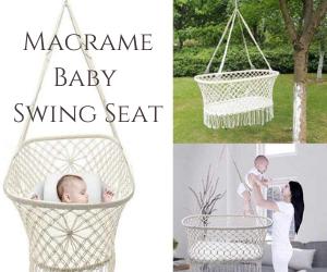 Macrame Baby Swing Seat